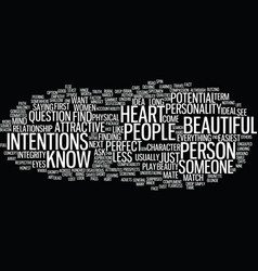 Looks or heart text background word cloud concept vector