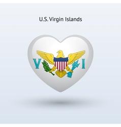 Love us virgin islands symbol heart flag icon vector