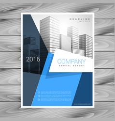 modern blue business brochure flyer design vector image
