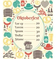 Oktoberfest menu template vector