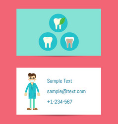 Professional business card for dentists vector
