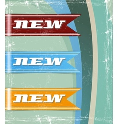 retro set of new tags vector image