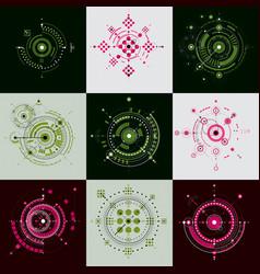 Set of modular bauhaus backdrops created from vector