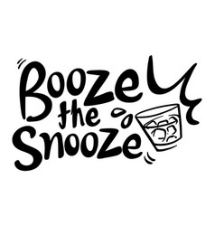 Word expression for booze the snooze vector