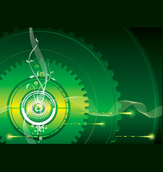 industrial green vector image