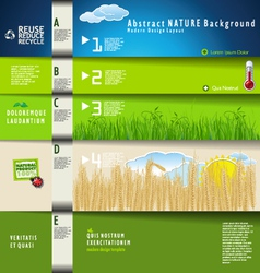 Modern ecology design template vector