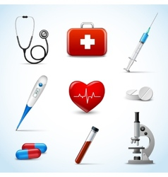 Realistic Medical Icons vector image