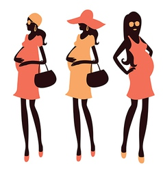 Fashionable pregnancy and maternity clipart vector image