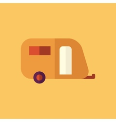 Trailer transportation flat icon vector