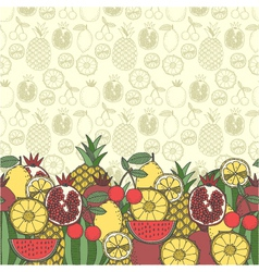 Decorative fruit background vector