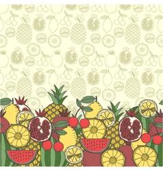 Decorative fruit background vector