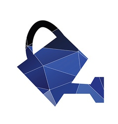 Watering can icon abstract triangle vector