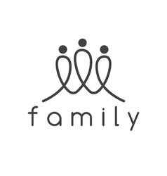 Happy family design template vector