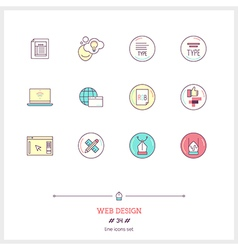 Web design line icons set vector