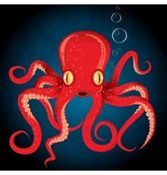 octopus animal underwater vector image