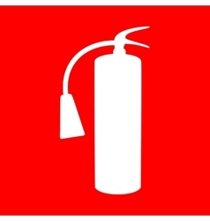 Fire extinguisher sign vector