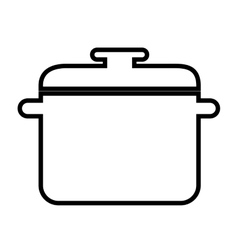 Kitchen pot isolated icon design vector