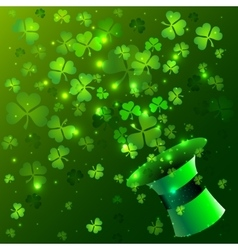 Green hat background vector image