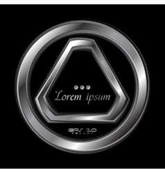 Abstract metallic shape logo vector image vector image