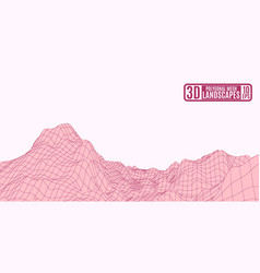 bordeaux mountain landscape on a pink background vector image vector image