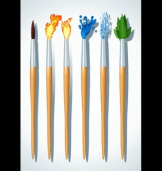 brushes painter vector image vector image