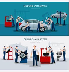 Car service banners set vector