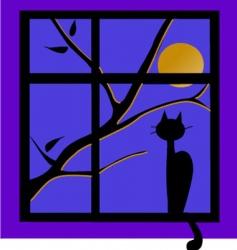 cat on window vector image vector image