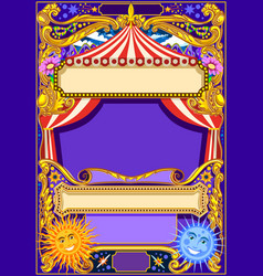 Circus frame background vector