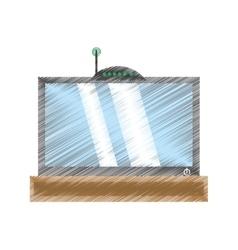 Drawing tv modem antenna signal vector