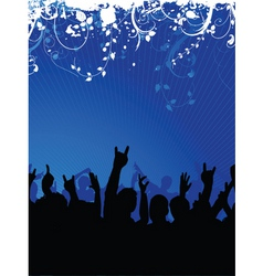 excited crowd vector image vector image