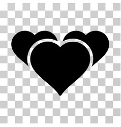 favourite hearts icon vector image