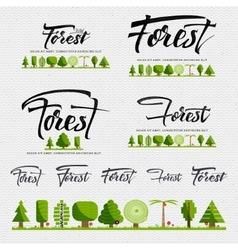 Forest - badge sticker can be used to design vector image