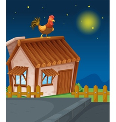 house and hen vector image