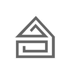 House-Maze-380x400 vector image