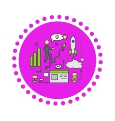 Icon Flat Style Design Successful Startup vector image vector image