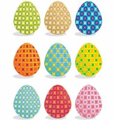 painted eggs vector image vector image