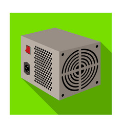 power supply unit icon in flat style isolated on vector image vector image