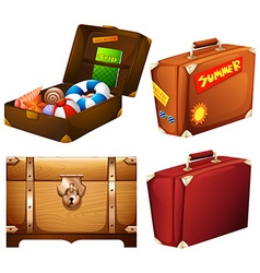Set of different suitcases vector image