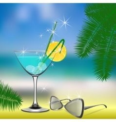 Summer day holiday vector image