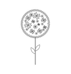 Tree with flowers icon vector