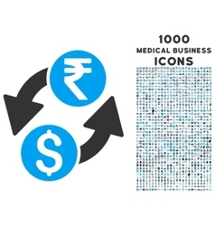 Dollar rupee exchange icon with 1000 medical vector
