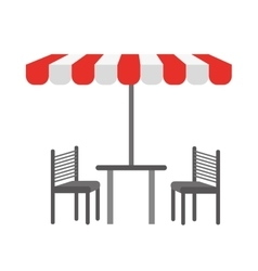 Tent table chairs vector