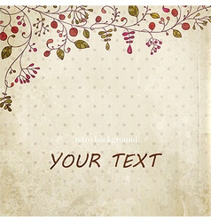 Rustic Floral Background vector image