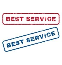 Best Service Rubber Stamps vector image