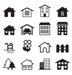 Home icons set vector