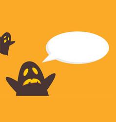 Halloween style cute card vector