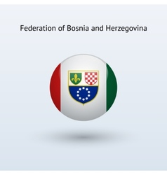 Federation of bosnia and herzegovina round flag vector