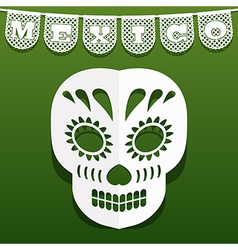 Mexican paper decoration vector