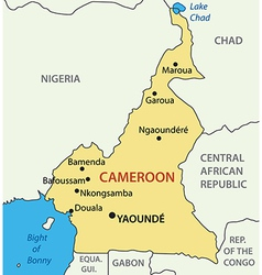 Republic of Cameroon - map vector image