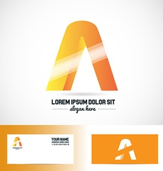 Letter a orange logo vector